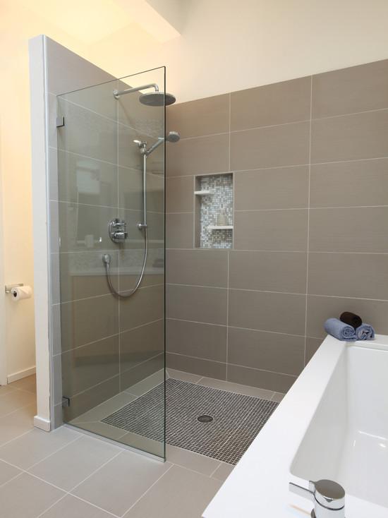 Mid Century Modern Master Bathroom (Seattle)