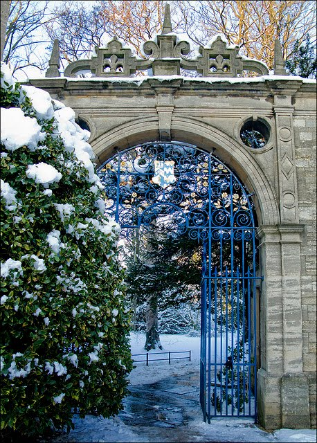 Entry Gate, Oxford University, England
